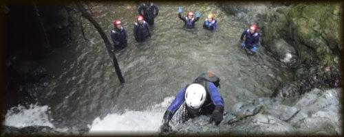 九州 熊本シャワークライミング 滝登り沢登り 写真1